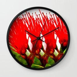 Lehua Hula Sisters Wall Clock