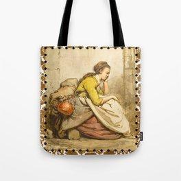 Traveling girl Tote Bag