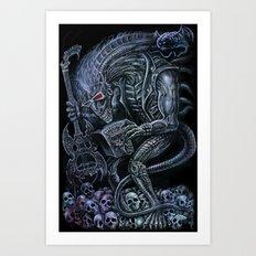 Alien Punk Rocker Outer Space Monster Art Print