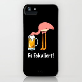 Bachelorette Party Pink Flamingo Beer iPhone Case