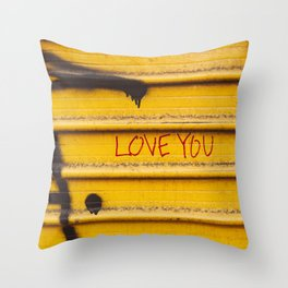 Love You, New York Throw Pillow