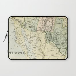 Vintage Map of the South West Of The United States Laptop Sleeve