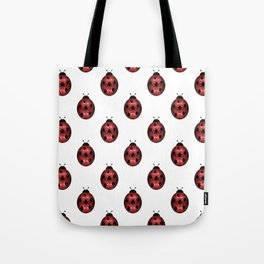Sparkly red sparkles Ladybug pattern Tote Bag
