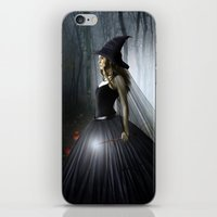 witch iPhone & iPod Skins featuring Witch by Julie Hoddinott