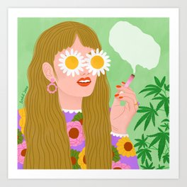Smoking Girl Art Print