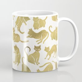Cat Positions – Gold Palette Coffee Mug