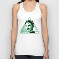tesla Tank Tops featuring Tri-Tesla by Rad Recorder