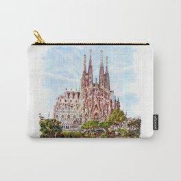 La Sagrada Familia watercolor Carry-All Pouch