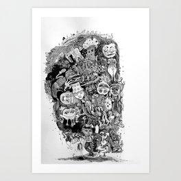 Mushed, Roomed, Costumed Art Print