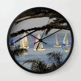 regatta night Wall Clock