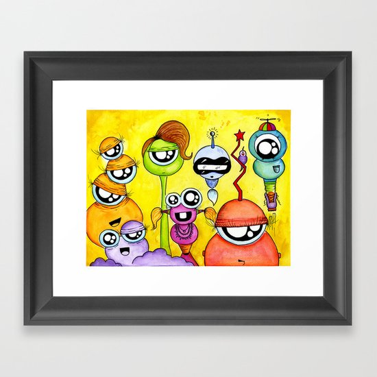 Aliem Friends Framed Art Print