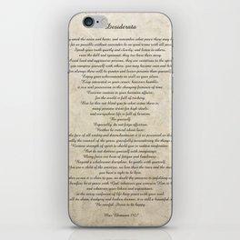Desiderata Poem By Max Ehrmann Nr. 1001-1 iPhone Skin