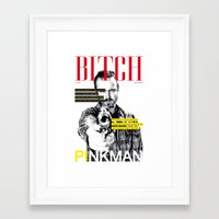 bitch Framed Art Prints featuring Bitch by Leigh Harris