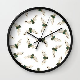 Cicada Jewels (White & Noir) Wall Clock