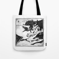 outlander Tote Bags featuring Hunted by Dushan Milic