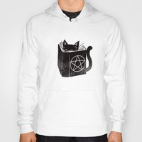 witchcraft Hoodies featuring Witchcraft Cat by Tobe Fonseca