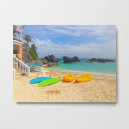 Beach in Bermuda Metal Print
