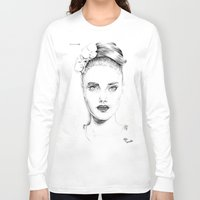 cara delevingne Long Sleeve T-shirts featuring Cara Delevingne by Rillwatermist