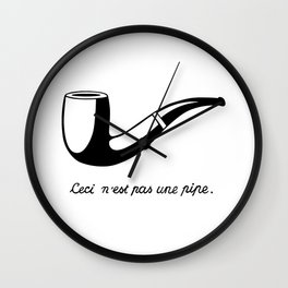 This Is Not A Pipe, Ceci n'est pas une pipe, Magritte Inspired T Shirt, Sketch, online T-shirt S Wall Clock