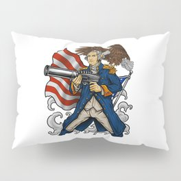 Patriotic Father Of Merica   Independence Day Pillow Sham