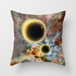 Crescent Mead Moons Throw Pillow