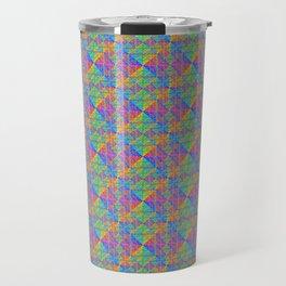 Bright Rainbow Hologram Pattern Travel Mug