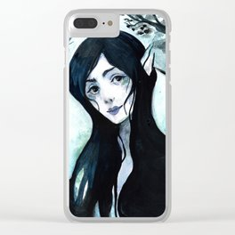 Cover of Darkness Clear iPhone Case