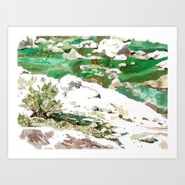 white rocks Art Print