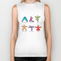 buddah Biker Tanks featuring Yoga basics by Intuitive Whimsy