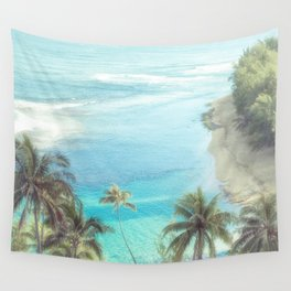 Dreamy Palm Beach Landscape Wall Tapestry