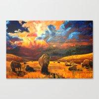 buffalo Canvas Prints featuring Buffalo by Daniel Gonzalez