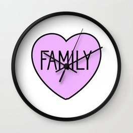 Family Love Wall Clock