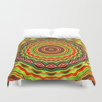 trippy Duvet Covers featuring Trippy mandala  by Mi Nu Ra