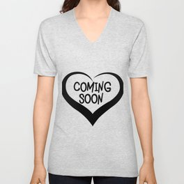 Coming Soon Pregnancy Announcement Gift Unisex V-Neck
