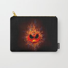 Skull Fire emoticon face iPhone 4 4s 5 5c 6 7, pillow case, mugs and tshirt Carry-All Pouch