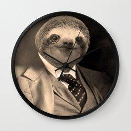 Gentleman Sloth 7# Wall Clock