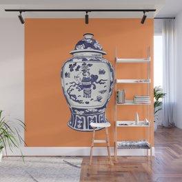 GINGER JAR NO 2 TANGERINE Wall Mural