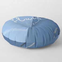 fluir azul Floor Pillow