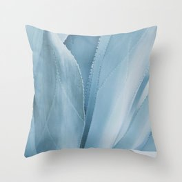 Blue Agave Abstract Throw Pillow