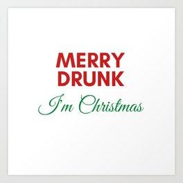 Merry Dunk I'm Christmas Art Print