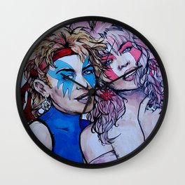 Jem and Dazzler - Kylie and Dannii Minogue Wall Clock