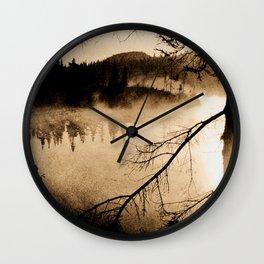Photo of Northern Lake, dark spirit Wall Clock