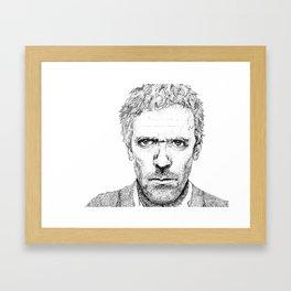Hugh Laurie, House MD Framed Art Print