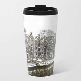 Amsterdam in the Winter Metal Travel Mug