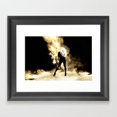 Sexy Fire Girl Framed Art Print
