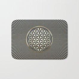 Flower of life metallic embossed Bath Mat