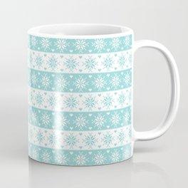 Mint Snowflakes Fair Isle Christmas Pattern Coffee Mug
