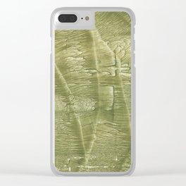 Dark khaki watercolor Clear iPhone Case