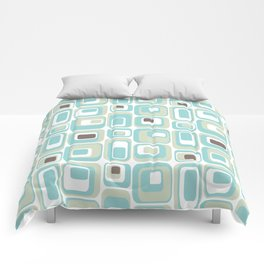 Retro Rectangles Mid Century Modern Geometric Vintage Style Comforters