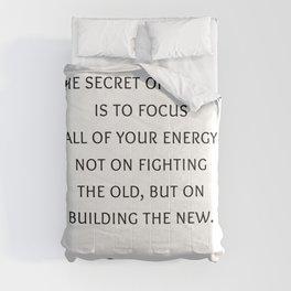 The secret of change - Socrates Greek Philosophy Quote Comforters